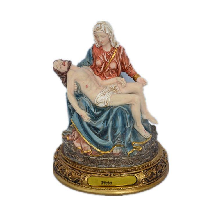 8 pulgadas de resina religiosa antigua Pieta estatuas de poliresina hecho a mano <span class=keywords><strong>escultura</strong></span>