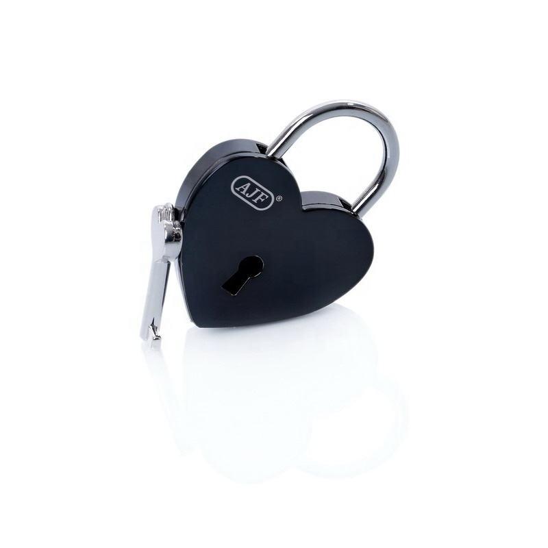 Freeship AJF TÜV bestanden die beliebteste produkt von schwarz farbe liebe herz form lock, Liebesschloss, cadenas