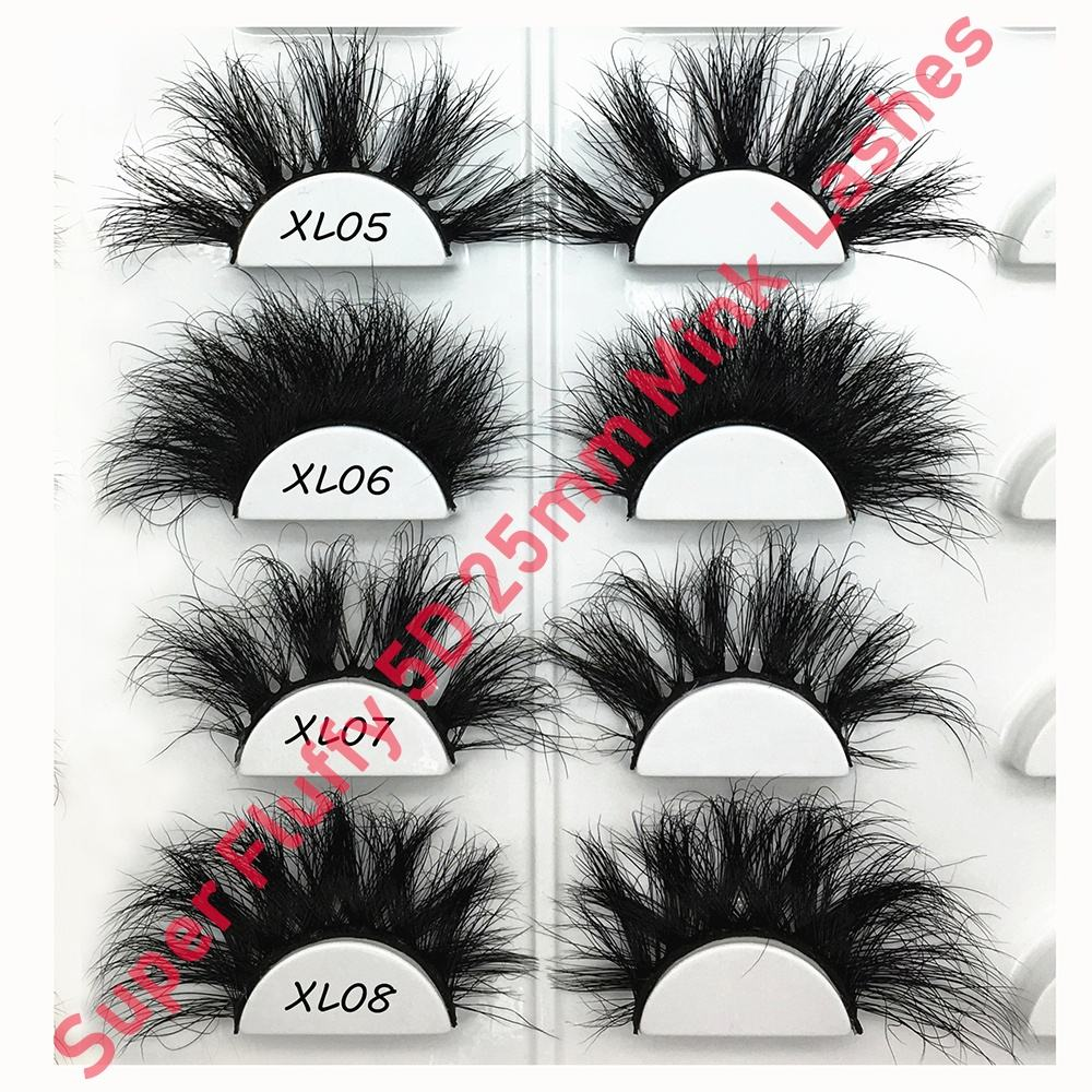 China Wholesale Cheap Luxury 3d 5d Mink private label mink lashes super fluffy 25mm mink eyelashes