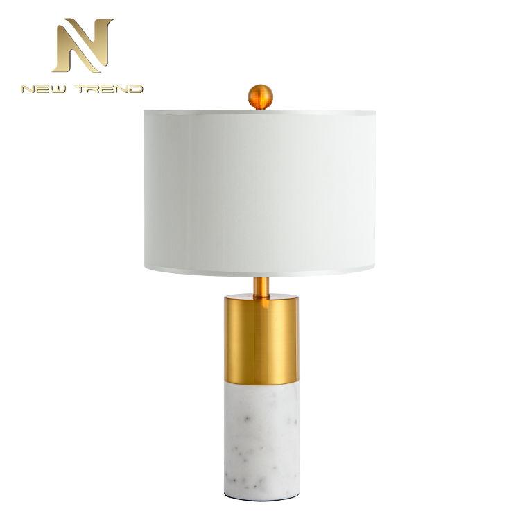 Научный разумный современный спальня творческий светильник мрамор железа настольная лампа
