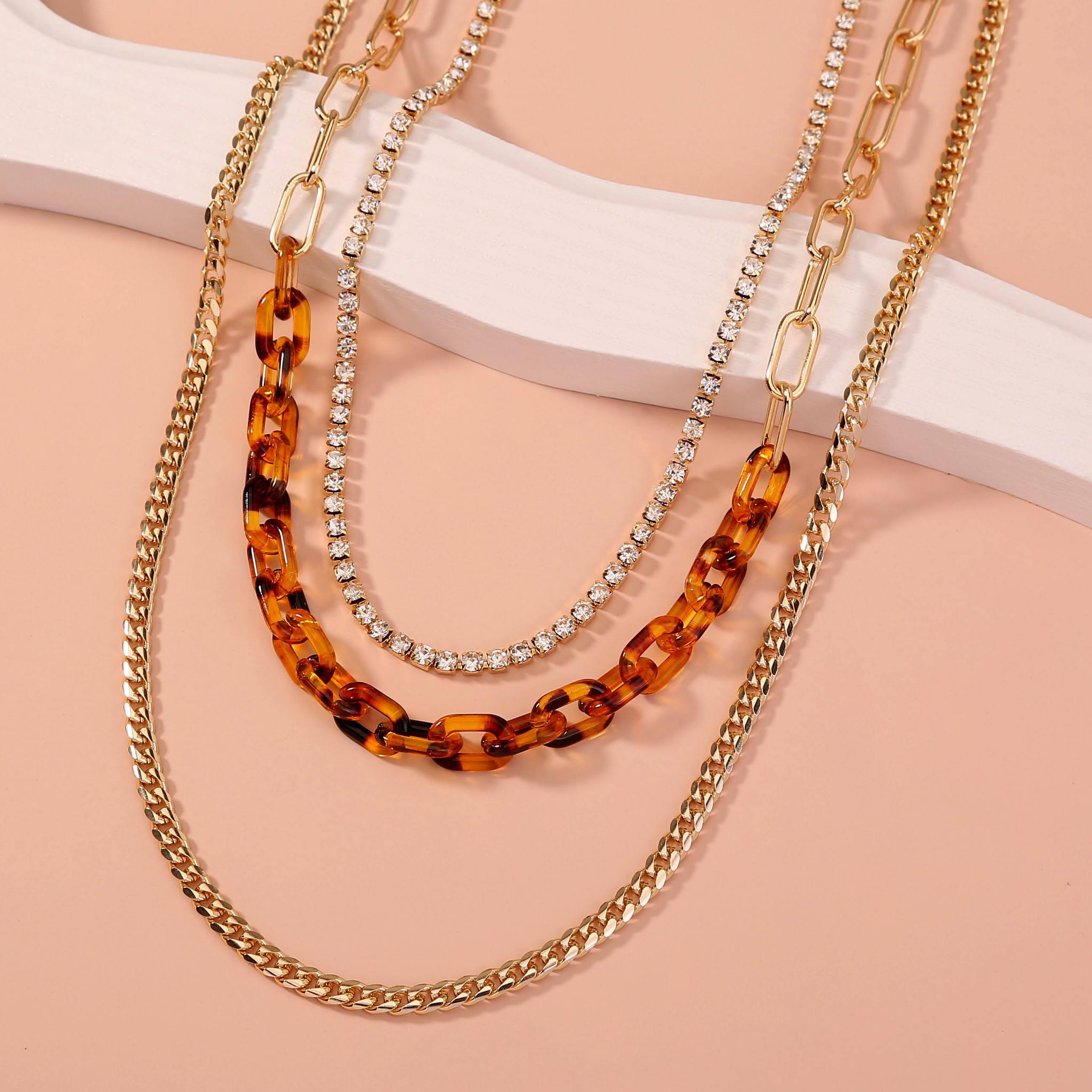 Women/'s necklace minimalist botanical chain silver steel pendant resin UV square diamond flowers real multicolored