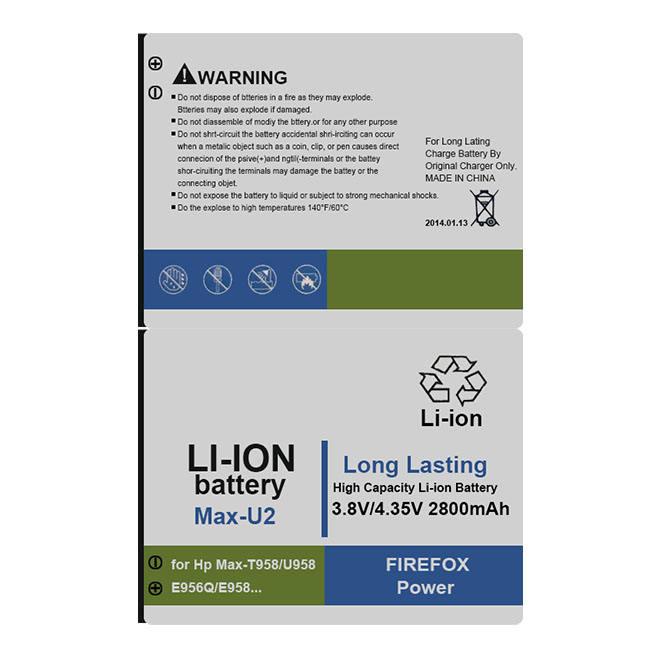 MSDS OEM recargable de 2800mAh batería de Li-Ion de 3,8 v Batre para <span class=keywords><strong>hp</strong></span> MAX U2 Agau