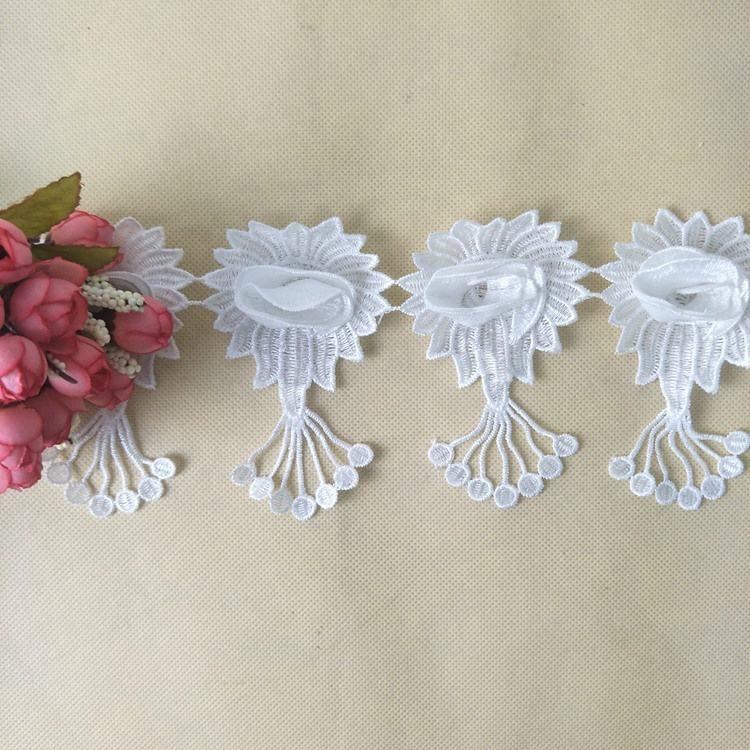 Afrikanische Hochzeit Spitze Stoff Phantasie Weiß Braut Französisch Spitze Netto Stickerei Stoff Für Braut