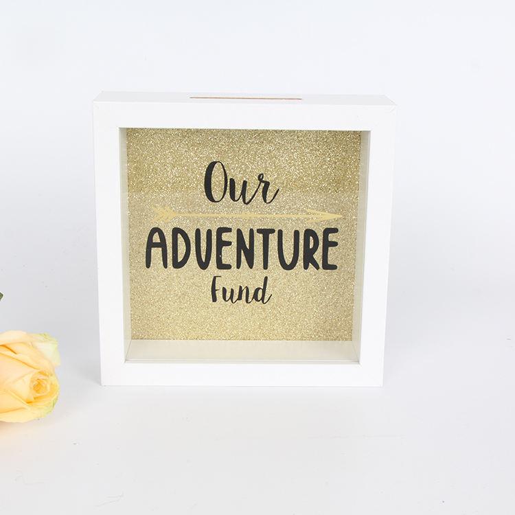 Индивидуальные простые печатные деревянные стеклянные копилки копилка 3D теневая коробка