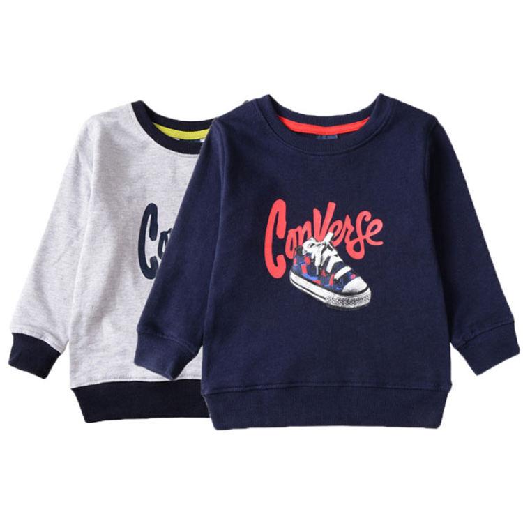 180 г., трикотажные футболки детские футболки с длинными рукавами и круглым воротником для мальчиков