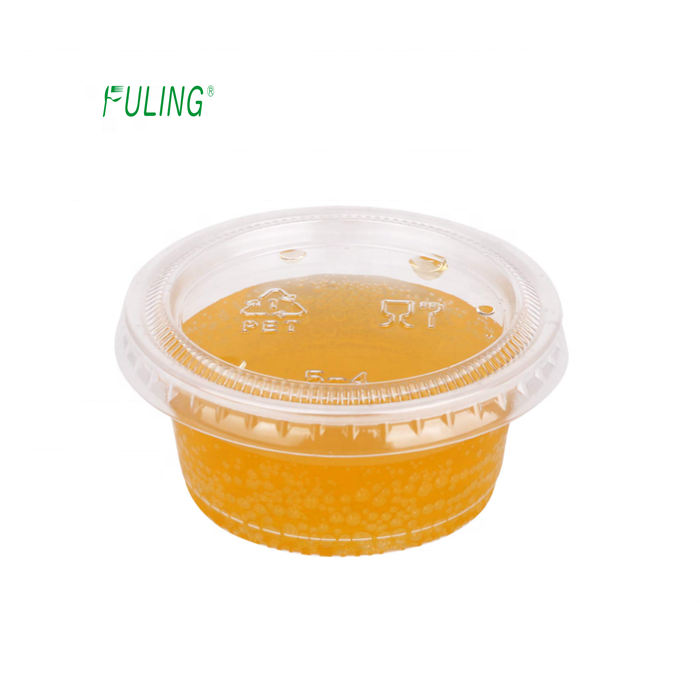 disposable 2 oz souffle food package condiment cup 2oz sauce portion cup custom brand 2 oz cups with lid