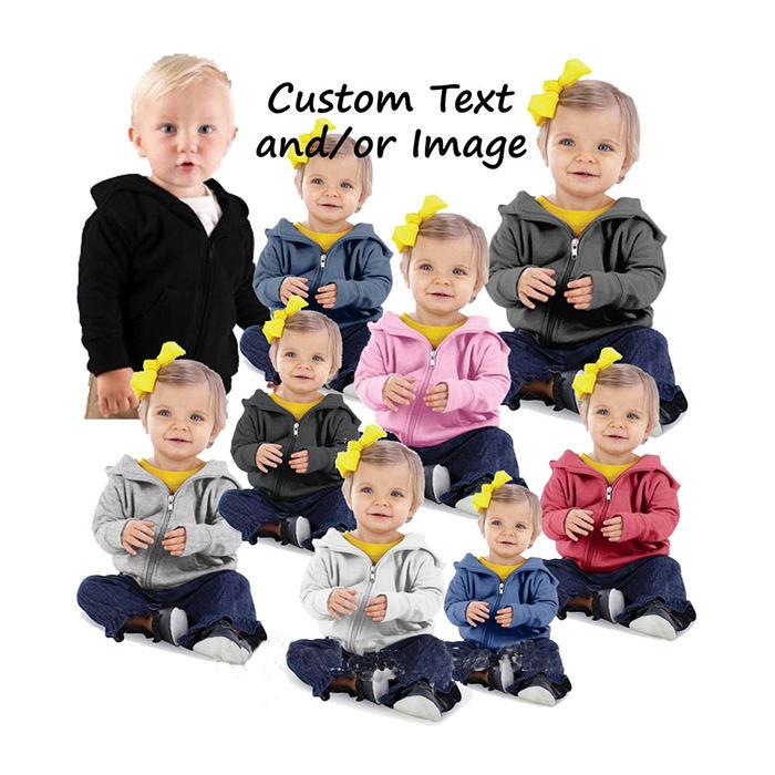 Детская одежда унисекс на заказ; Однотонная блузка для новорожденных; Толстовка на молнии с капюшоном для малышей