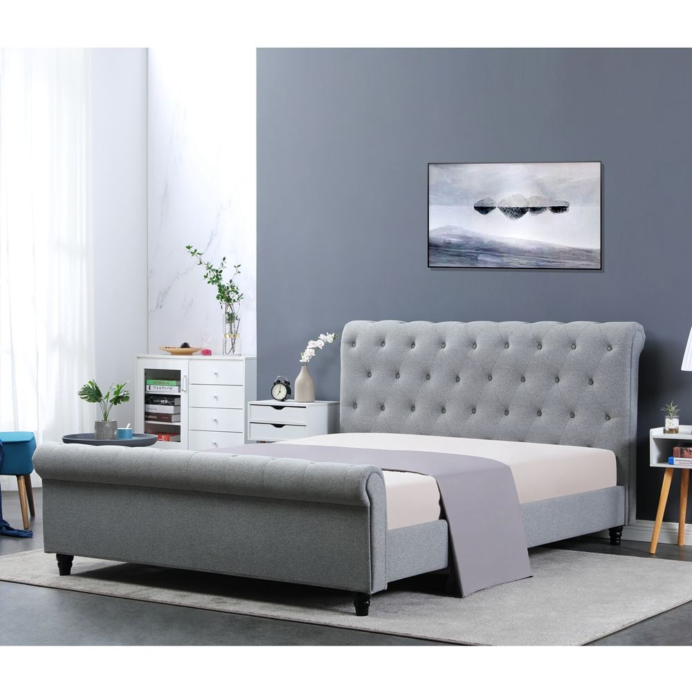 Wholesale Modern Bedroom Furniture King Size Solid Wood slatted king size queen Bed frame
