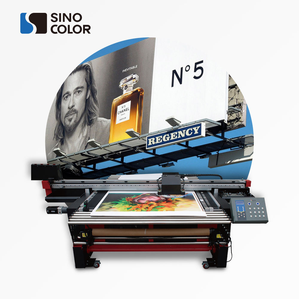 1.6M Sinocolor HUV-1600 DX5 Heads Led Uv Hybrid Printer Voor Roll En <span class=keywords><strong>Flatbed</strong></span> <span class=keywords><strong>Afdrukken</strong></span>