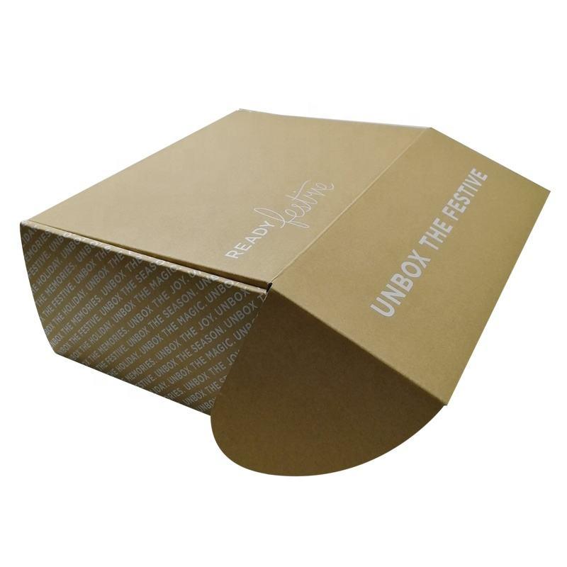 Christmas Shipping Corrugated Mailer Box Customized Logo