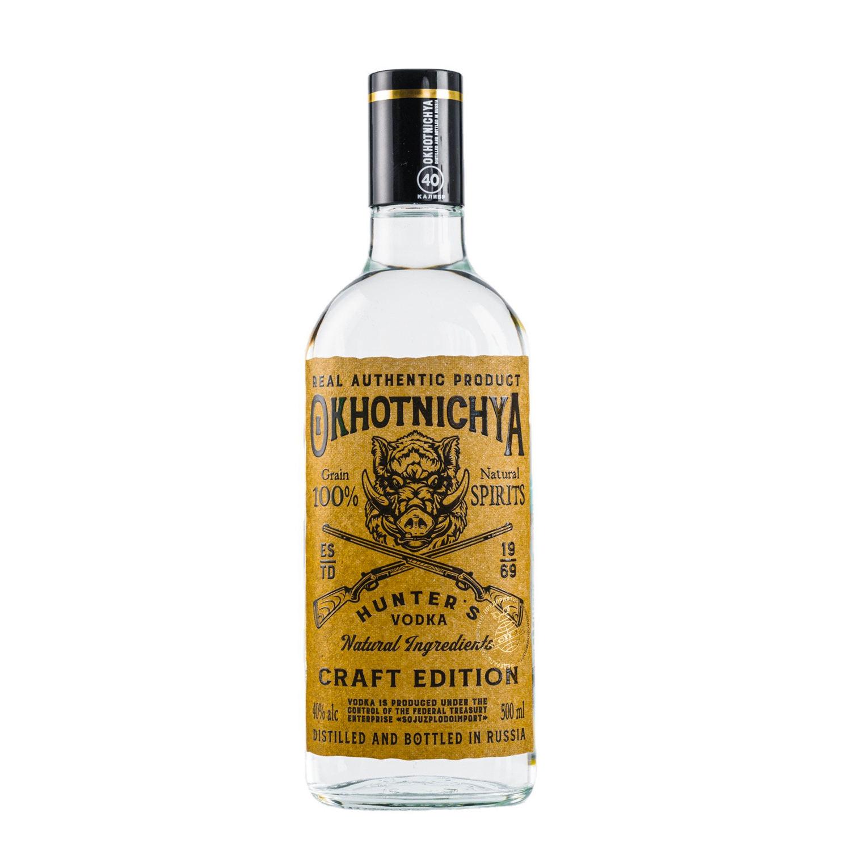 Alcoholic Beverage Hunting Vodka, 0.5 L., Strength 40% Vol.