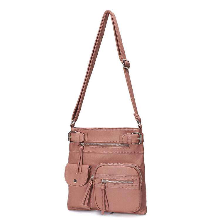 Multifunctional Sling Leather Crossbody Bag Square Large Handbags For Women 2020