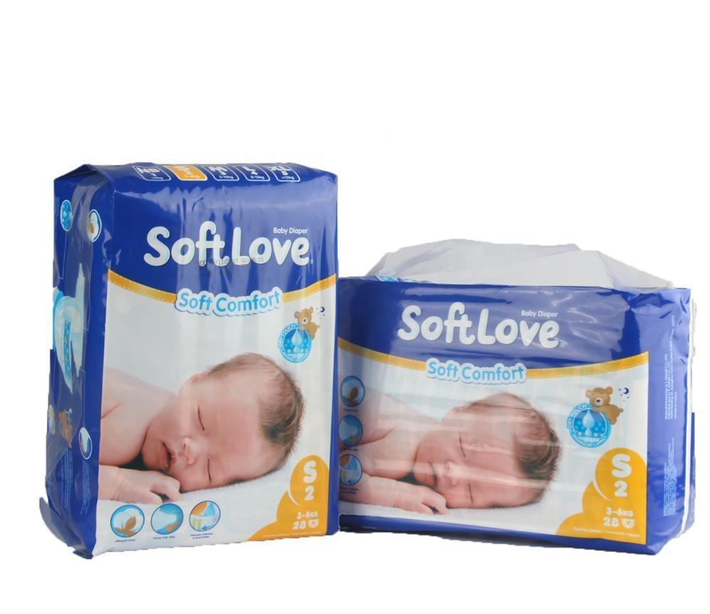 Softlove Hot Bán S 28's Dùng Một Lần Thoáng Khí Tã Trẻ Em