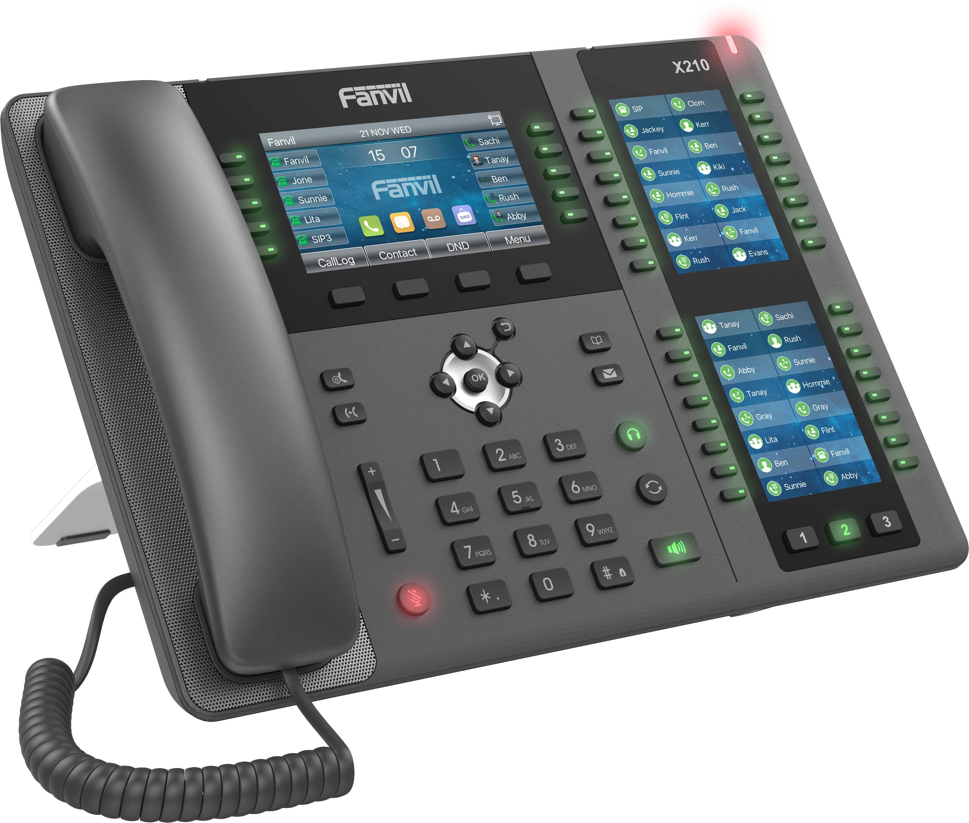 Fanvil X210 Enterprise IP Phone 20 SIP Garis <span class=keywords><strong>VoIP</strong></span> Phone Penopang WIFI