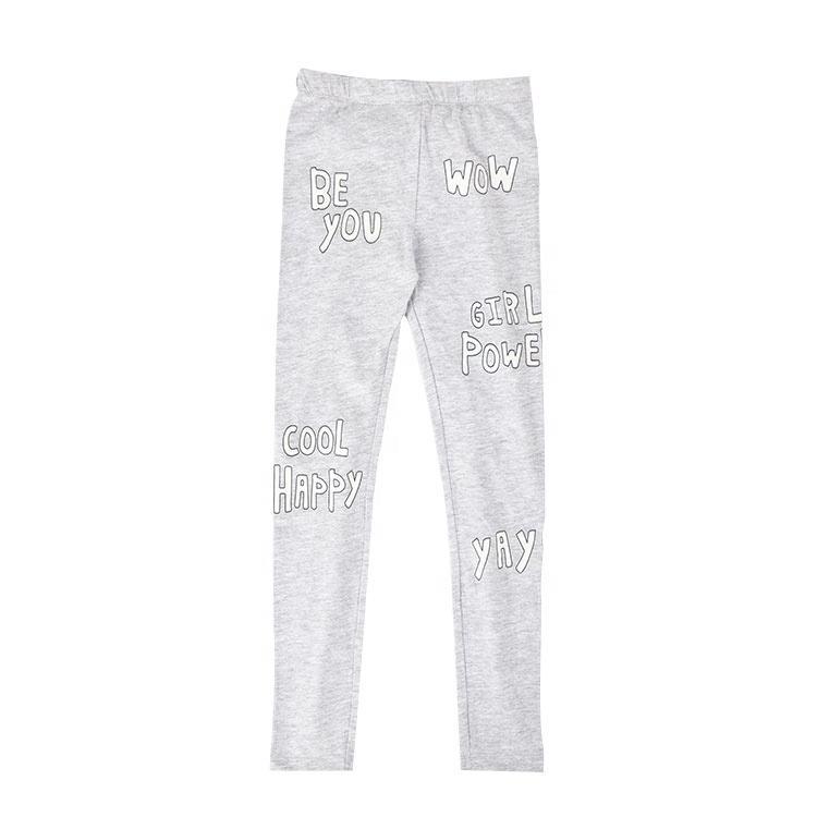 Оптовая продажа; детские штаны; леггинсы; вязаные мягкие серые детские леггинсы из 100% хлопка для девочек