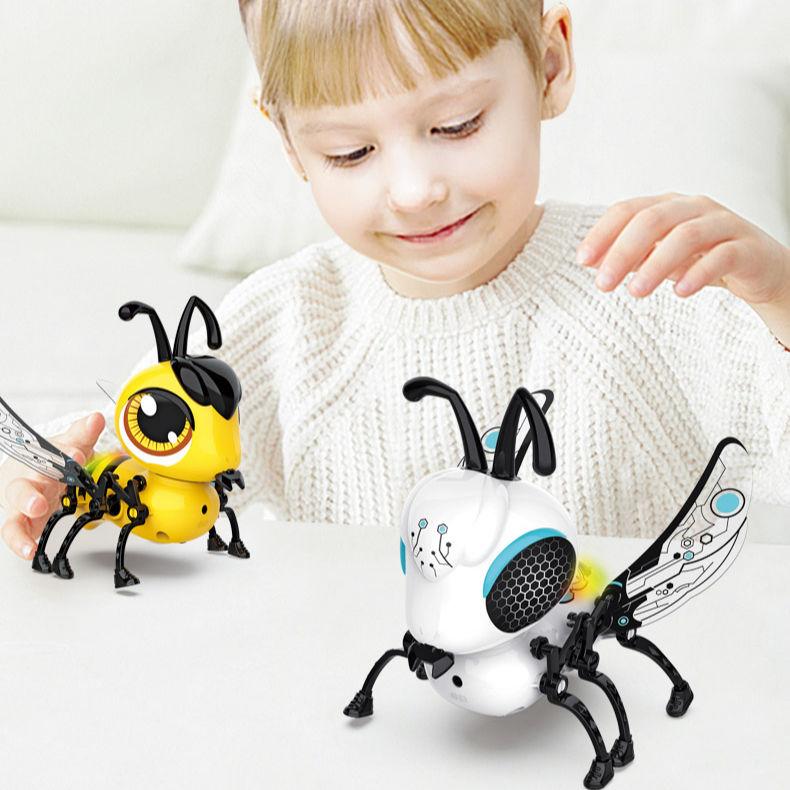Mới ổn đị<span class=keywords><strong>nh</strong></span> Tương tác thông minh đồ chơi tay điều khiển cảm ứng á<span class=keywords><strong>nh</strong></span> sáng âm thanh tự làm Robot đồ chơi cho trẻ em giáo dục