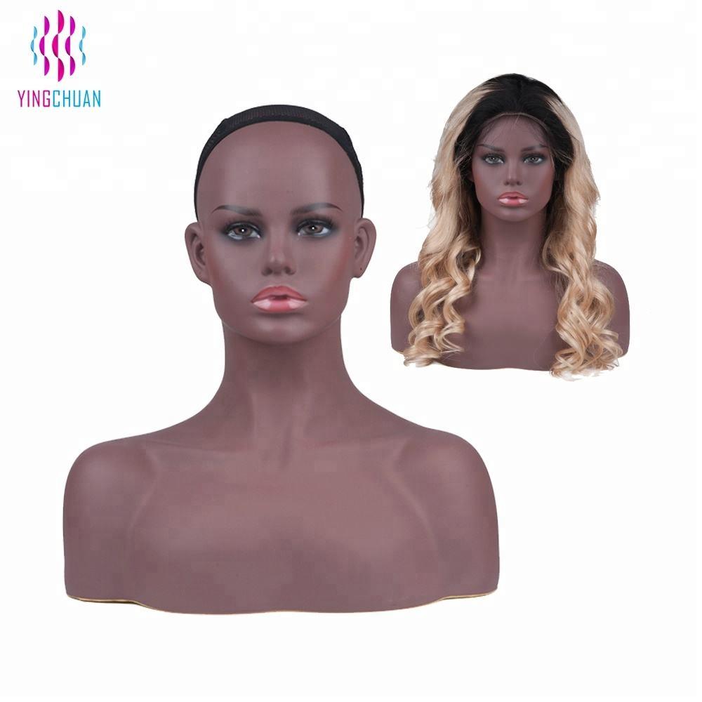 PVC head mannequin Africa wig display head