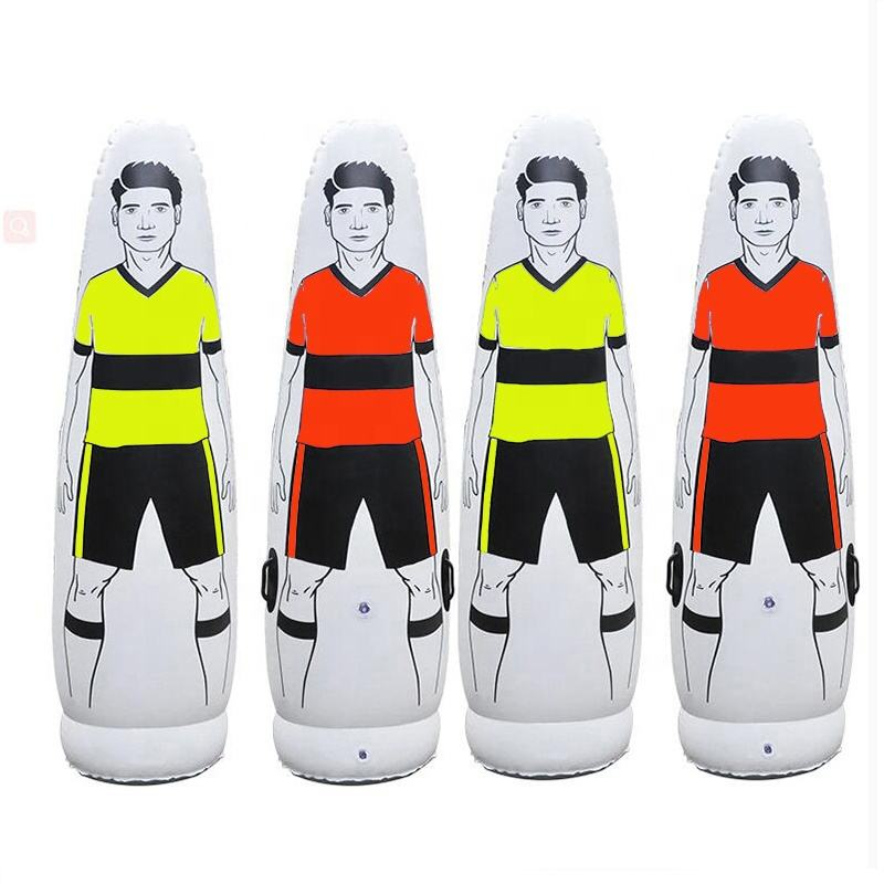 Wholesale 1.6m 1.75m 2m Adult Children Inflatable Football Training Goal Keeper Tumbler Air Soccer Train Dummy