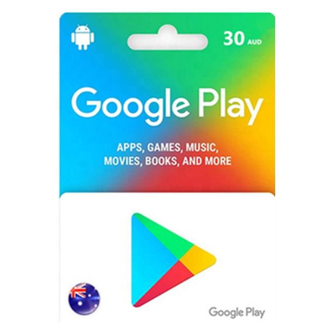 AUS Google Play Gift Card 30AUD Fast Delivery