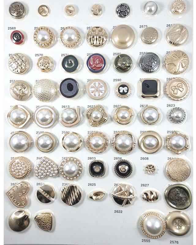 Logotipo personalizado de alta qualidade design pérola botão de metal, personalizado fantasia de metal botão para vestuário