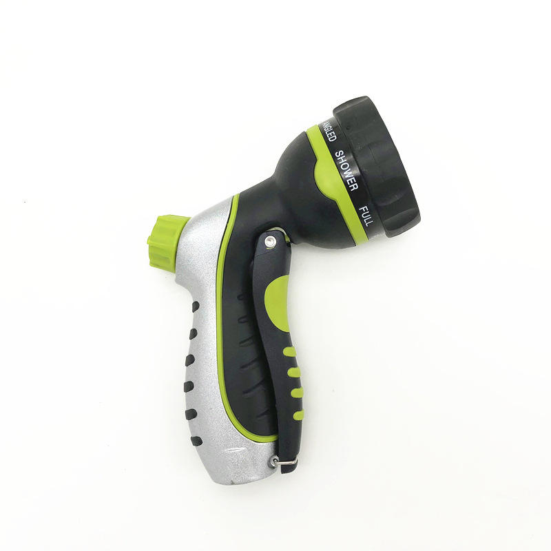New Arrival 8 Function Adjustable Spray Nozzle High Pressure Garden Hose Nozzle Garden Water Guns Variable Spray Patterns Rubber