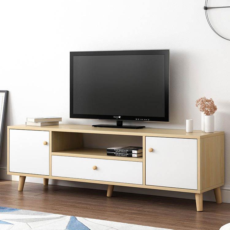Estilo europeo de muebles para el superior de acero inoxidable con DMF de gabinete de madera de soporte de TV
