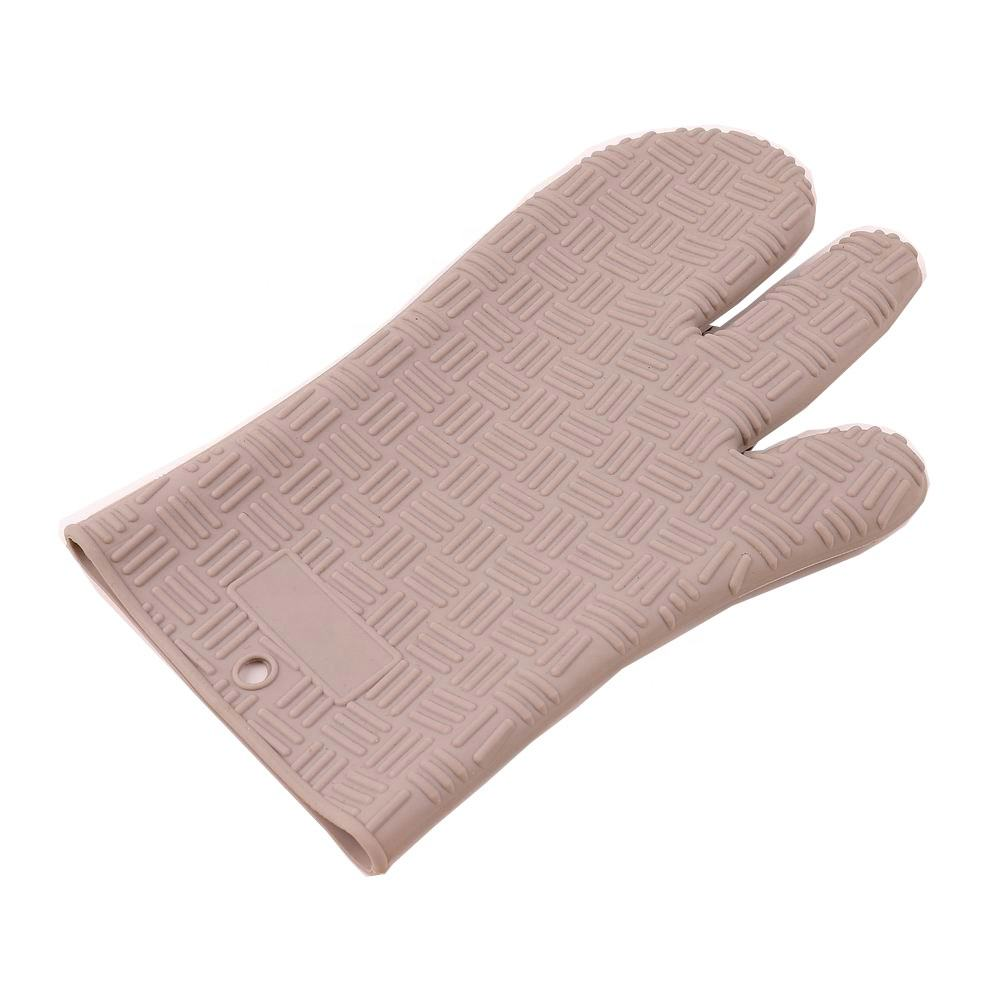 Factory direct sale non-slip design hand guard heat-resistant silicon kitchen double mini oven mitts