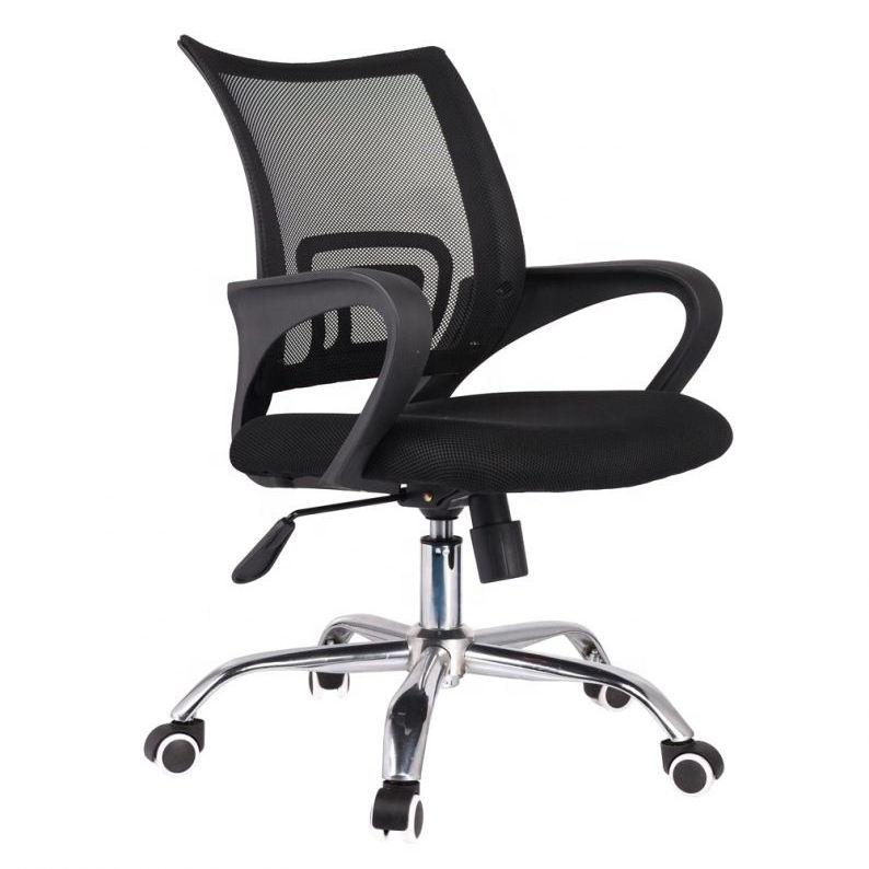 2019 sillas de personal de silla de oficina de elevación giratoria de malla ergonómica de alta calidad para trabajar en casa