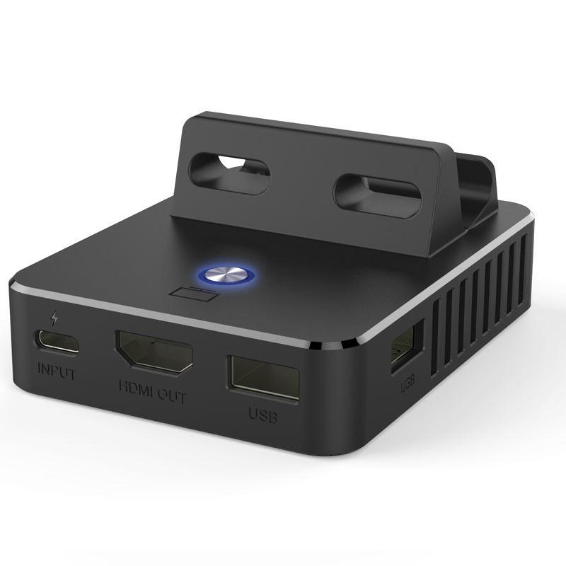Honcam Interruttore Dock TV <span class=keywords><strong>Portatile</strong></span> Docking Station di Ricambio per Nintendo Switch con HDMI