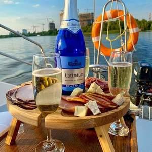 Outdoor Dinner Outdoor Wine Table with Bottle Holder Outdoor ...