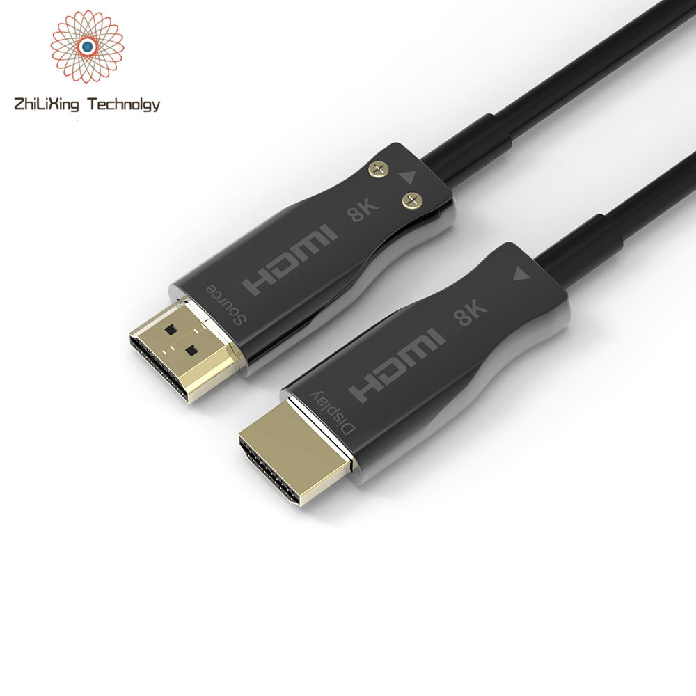 HDMI 2,1 Cable de fibra óptica soporte 8K @ 60Hz 4K @ 120Hz 48Gbps eARC Compatible con el Apple TV Apple tv Nintendo interruptor Roku QLED 8K Q900 TV