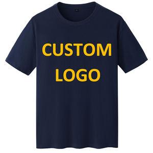 Wholesale Wholesale High Quality Mens Blank 100% Cotton Tshirt Printing Custom Plain T-Shirt Logo Printed Black T Shirts