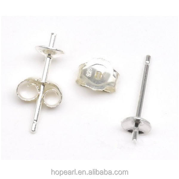 stainless steel earrings 5mm Ball Post with Loop Stainless Steel Earring Stud 1988 Stainless Steel earstuds 10 pieces