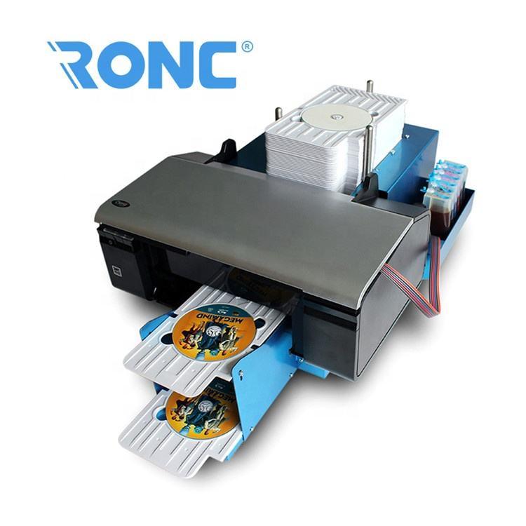Promoción Comercial barato cd y dvd, impresión de tapa máquina industrial de la máquina de impresora de inyección de tinta