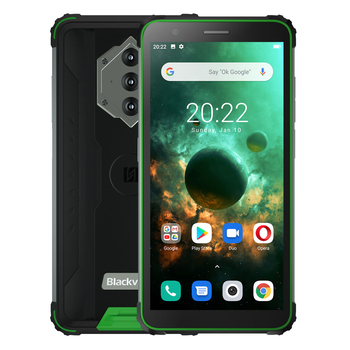 NFC Android 10 Blackview BV6600 Octa Core 4GB + 64GB IP68 Impermeabile 8580mAh Rugged Smartphone 16MP Macchina Fotografica
