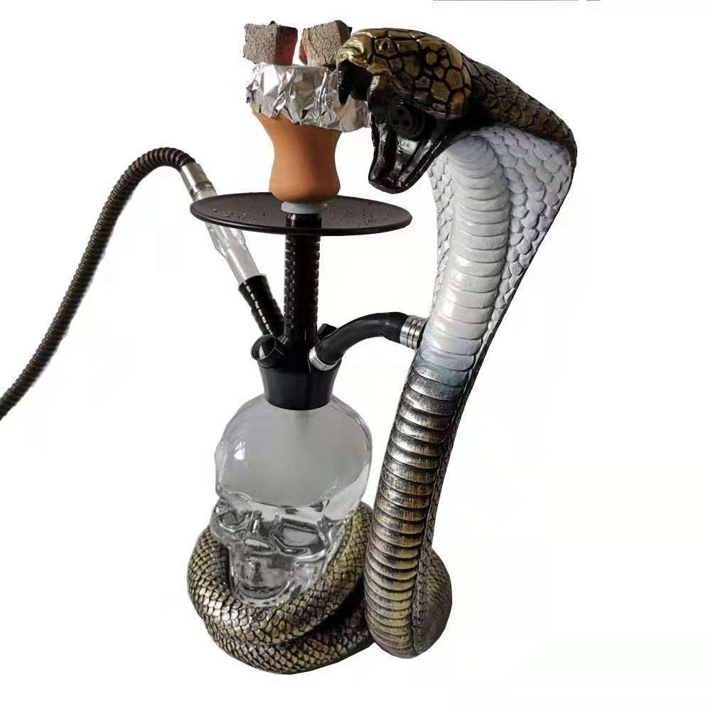 New design wholesale stainless steel hookah shisha with Led Light Made in China
