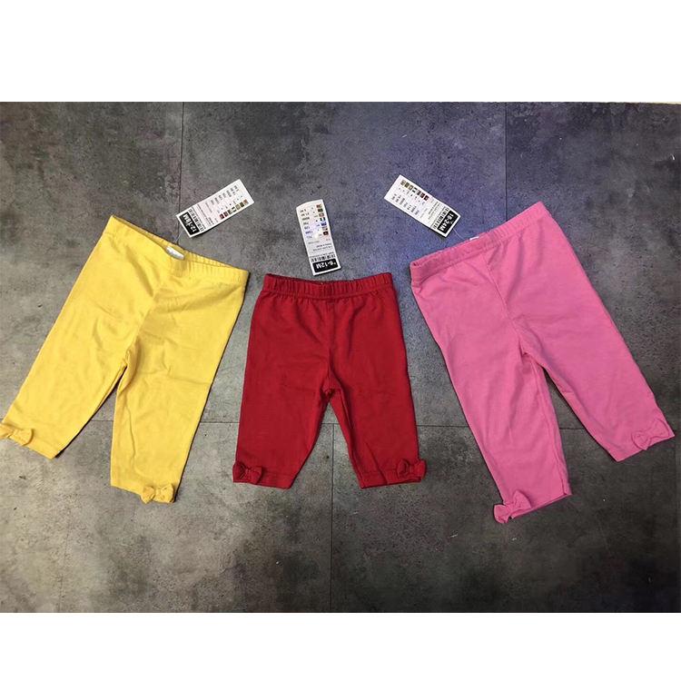 Горячая Распродажа, однотонные мягкие хлопковые штаны ярких цветов для маленьких девочек