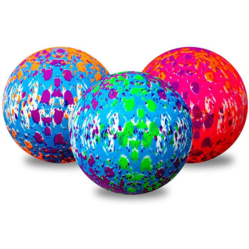 ActEarlier Splat toy ball Bright and colorful mini paint splatter balls indoor outdoor Clear Pvc Inflatable Ball