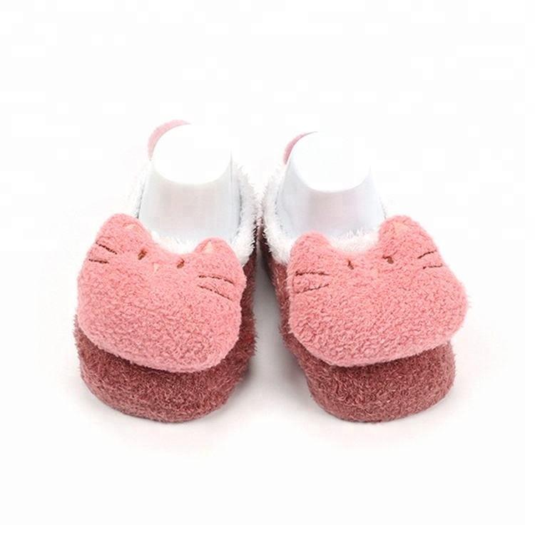 Зимние тапочки бархат нескользящие носки для малышей детская обувь и носки