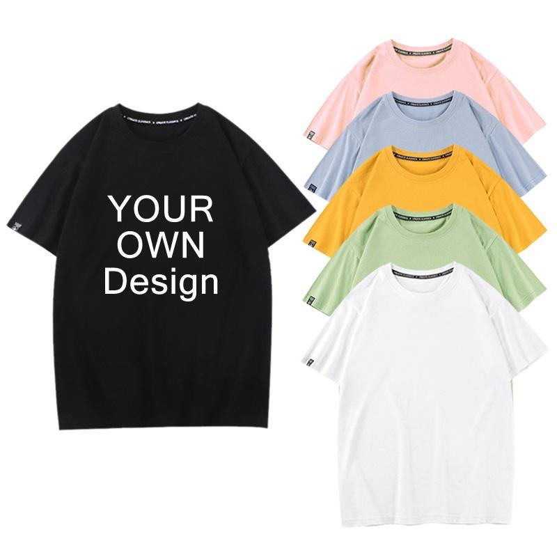 Impressão de Grandes Dimensões de Algodão Liso Personalizado Tshirts Homens Quick Dry Respirável Branco