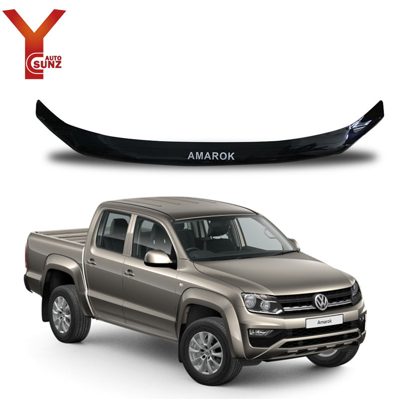 YCSUNZ For Amarok Bonnet Guard Black Acrylic Plastic For Amarok 2009-2019 Car Exterior Accessories