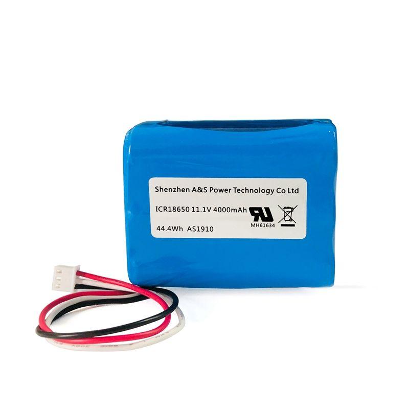 UL2054 UN38.3 승인 18650 12v 4ah 리튬 이온 배터리 팩 휴대용 디지털 제품