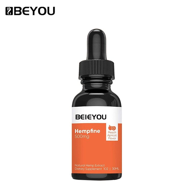 BEYOU 500mg melocotón albaricoque sabor aceite de cáñamo Natural dolor alivio de la ansiedad de cáñamo para dormir mejor