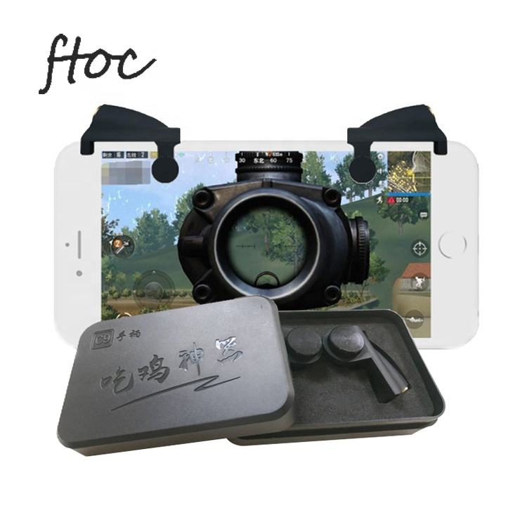 Fabrik Neue Modell Mobile L1r1 Telefon Gaming Trigger Gamepad Controller L1 R1 Shooter <span class=keywords><strong>Spiel</strong></span> Spielen Für 12mm Mobile Dicke