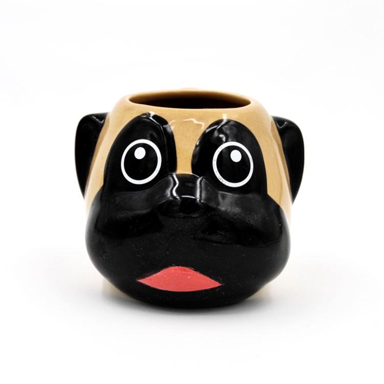 Puppy Dog Cup Bulldog Dogs 3D Animal Anime Ceramic Mugs
