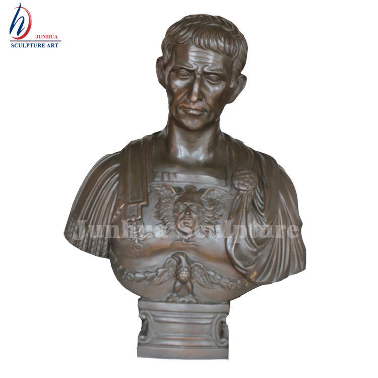 Famous Bronze Roman Bust of Caesar Augustus