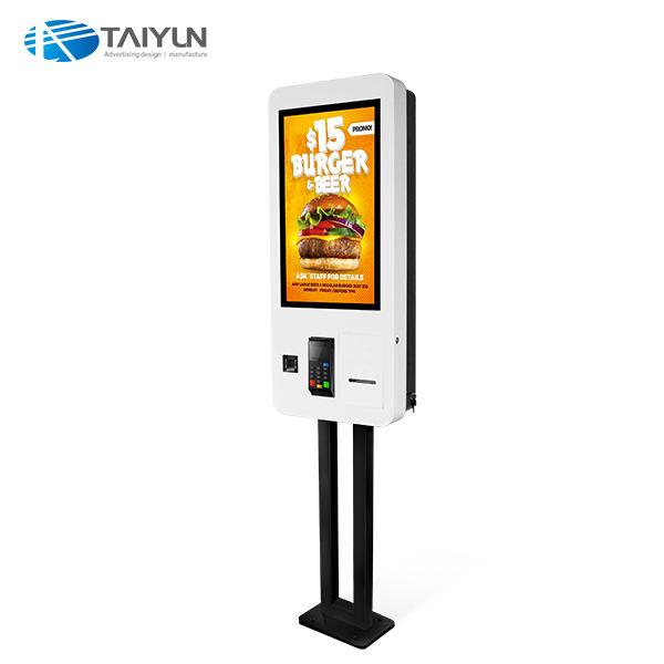 27 pouces sans surveillance kiosque commande en libre-service de paiement pour restaurant/magasin de détail