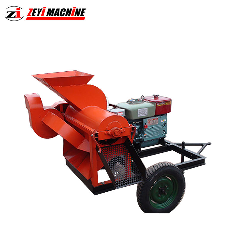 Household hammer type corn thresher rotten rotten seed core with blower maize sheller