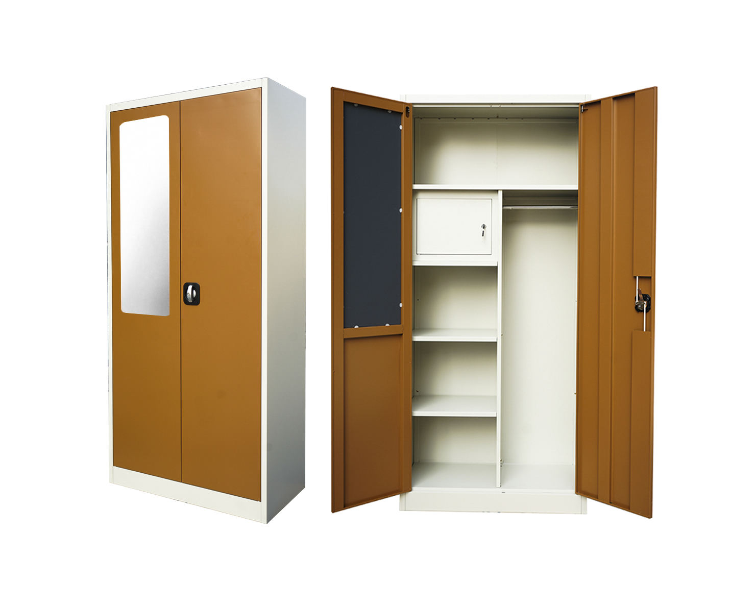 Best-loved ISO Certificate Customized Clothing Double Door Almirah Storage Used Metal Wardrobe Almira