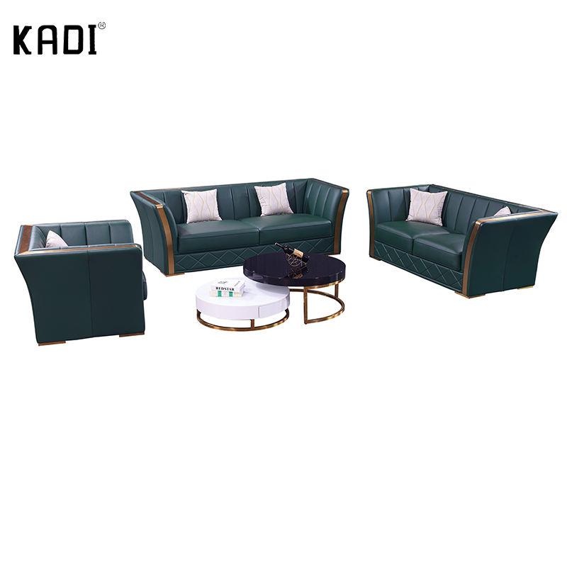 Oturma odası köşe kanepe püsküllü siyah deri kanepe